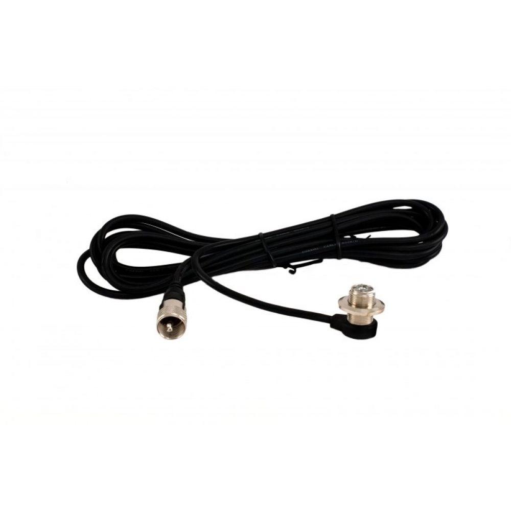 Крепёж врезной Vector с кабелем для автомобильных антенн, разъём PL259